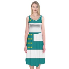Flag of Fenian Brotherhood Midi Sleeveless Dress