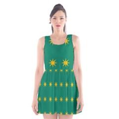 32 Stars Fenian Flag Scoop Neck Skater Dress