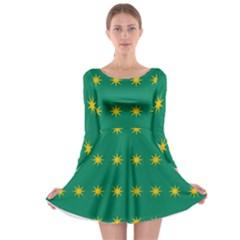 32 Stars Fenian Flag Long Sleeve Skater Dress