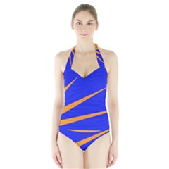 Sunburst Flag Halter Swimsuit