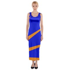 Sunburst Flag Fitted Maxi Dress