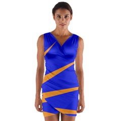 Sunburst Flag Wrap Front Bodycon Dress
