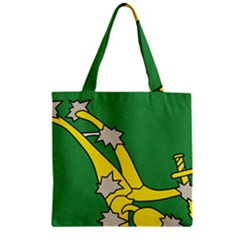 Starry Plough Flag  Zipper Grocery Tote Bag