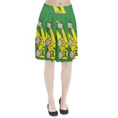 Starry Plough Flag  Pleated Skirt