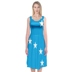 Starry Plough Flag Midi Sleeveless Dress
