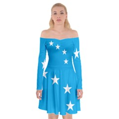 Starry Plough Flag Off Shoulder Skater Dress