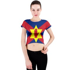Flag of the Ulster Nation Crew Neck Crop Top
