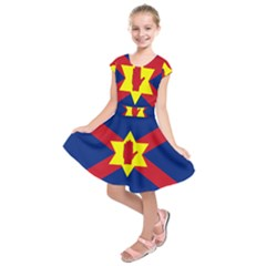 Flag Of The Ulster Nation Kids  Short Sleeve Dress