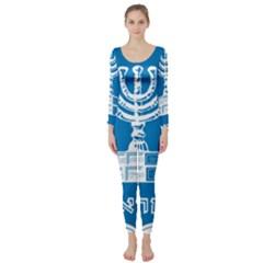 Emblem of Israel Long Sleeve Catsuit