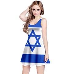 Flag of Israel Reversible Sleeveless Dress