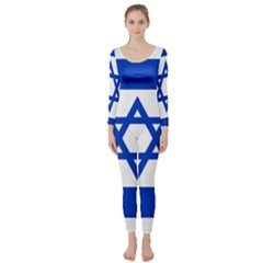 Flag of Israel Long Sleeve Catsuit