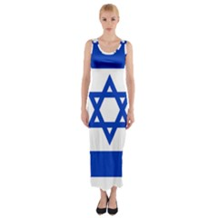 Flag of Israel Fitted Maxi Dress