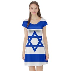 Flag of Israel Short Sleeve Skater Dress