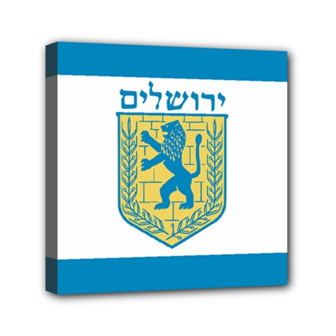 Flag of Jerusalem Mini Canvas 6  x 6