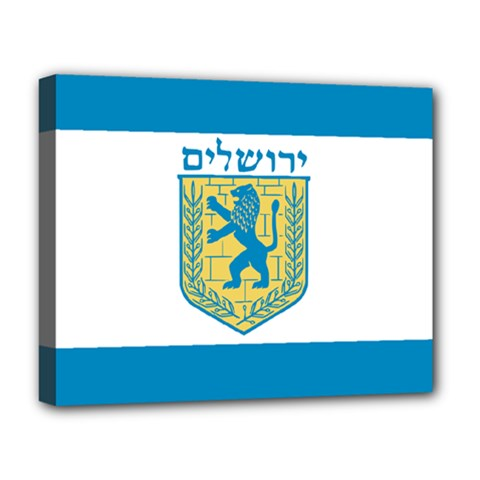 Flag Of Jerusalem Deluxe Canvas 20  X 16