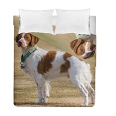 Brittany Spaniel Full Duvet Cover Double Side (Full/ Double Size)
