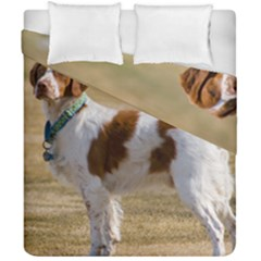 Brittany Spaniel Full Duvet Cover Double Side (California King Size)