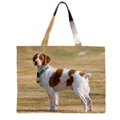 Brittany Spaniel Full Large Tote Bag