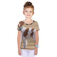 Brittany Spaniel Full Kids  One Piece Tee
