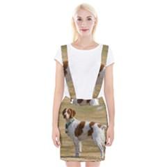 Brittany Spaniel Full Braces Suspender Skirt