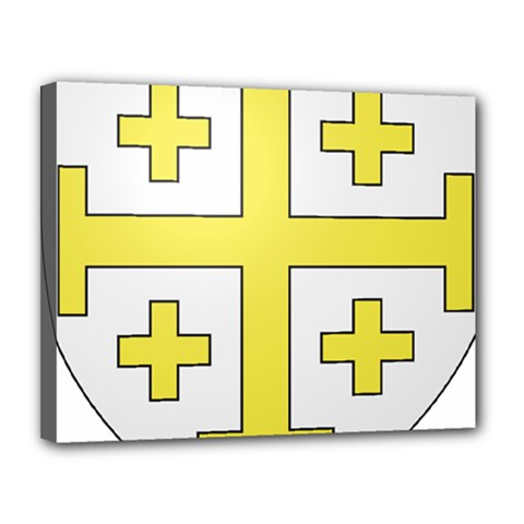 The Arms of the Kingdom of Jerusalem  Canvas 14  x 11