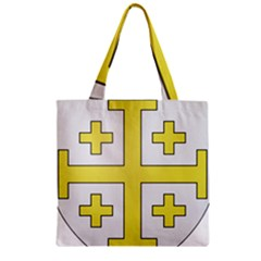 The Arms of the Kingdom of Jerusalem  Zipper Grocery Tote Bag