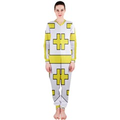 The Arms of the Kingdom of Jerusalem  OnePiece Jumpsuit (Ladies)