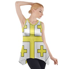 The Arms of the Kingdom of Jerusalem  Side Drop Tank Tunic