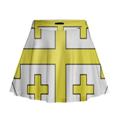 The Arms of the Kingdom of Jerusalem  Mini Flare Skirt