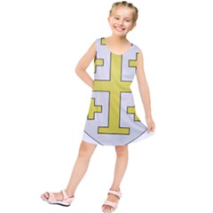 The Arms of the Kingdom of Jerusalem  Kids  Tunic Dress