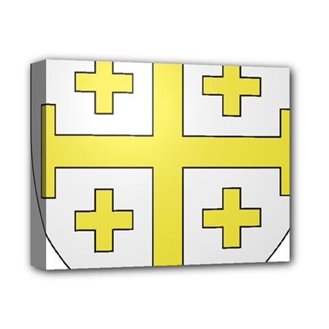 The Arms of the Kingdom of Jerusalem Deluxe Canvas 14  x 11