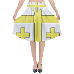 The Arms Of The Kingdom Of Jerusalem Flared Midi Skirt