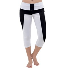 Anchored Cross  Capri Yoga Leggings