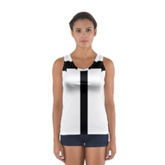 Anchored Cross  Women s Sport Tank Top
