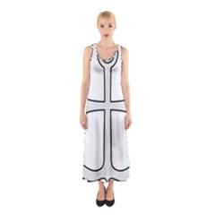 Anchored Cross  Sleeveless Maxi Dress