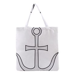 Anchored Cross Grocery Tote Bag