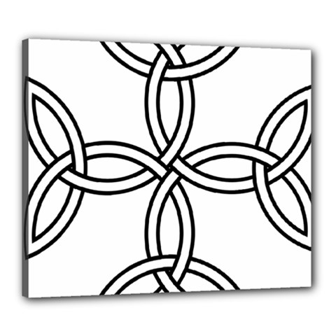 Carolingian Cross Canvas 24  x 20