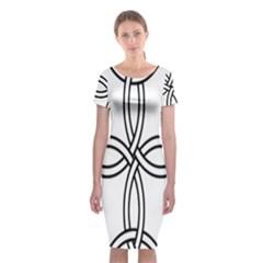 Carolingian Cross Classic Short Sleeve Midi Dress