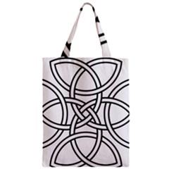 Carolingian Cross Zipper Classic Tote Bag