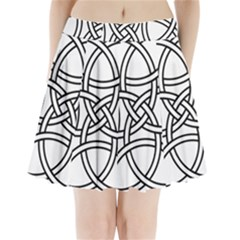 Carolingian Cross Pleated Mini Skirt