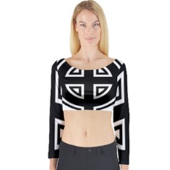 Celtic Cross Long Sleeve Crop Top