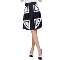 Celtic Cross A-Line Skirt