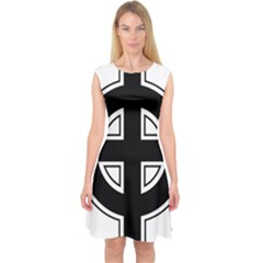Celtic Cross Capsleeve Midi Dress