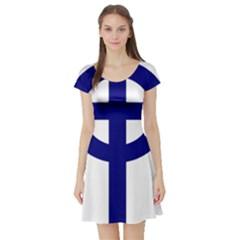 Celtic Cross  Short Sleeve Skater Dress