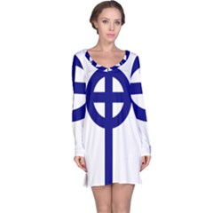 Celtic Cross  Long Sleeve Nightdress