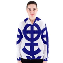 Celtic Cross  Women s Zipper Hoodie