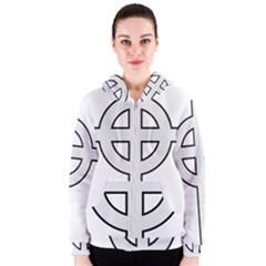 Celtic Cross  Women s Zipper Hoodie