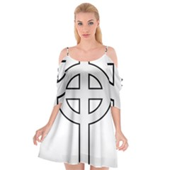 Celtic Cross  Cutout Spaghetti Strap Chiffon Dress
