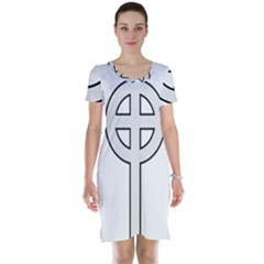 Celtic Cross  Short Sleeve Nightdress