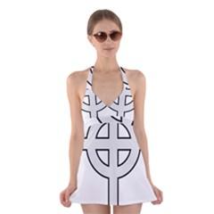 Celtic Cross  Halter Swimsuit Dress